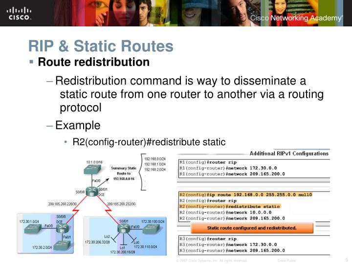 RIP & Static Routes