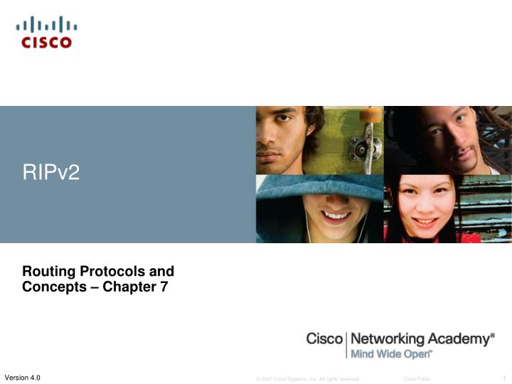 Routing protocols and concepts chapter 7