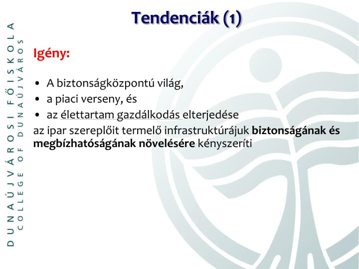 Tendenciák (1)