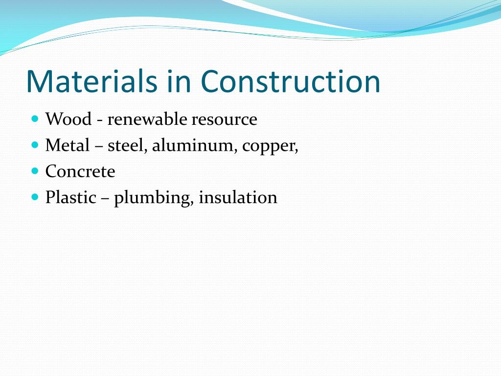 Materials in Construction