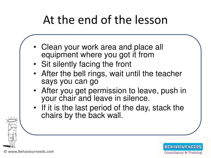 At the end of the lesson