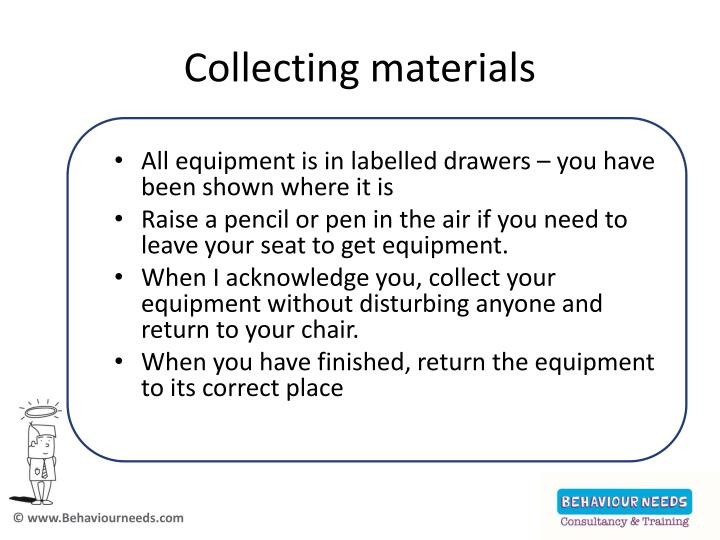 Collecting materials