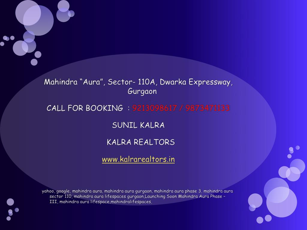 """Mahindra """"Aura"""", Sector- 110A,"""