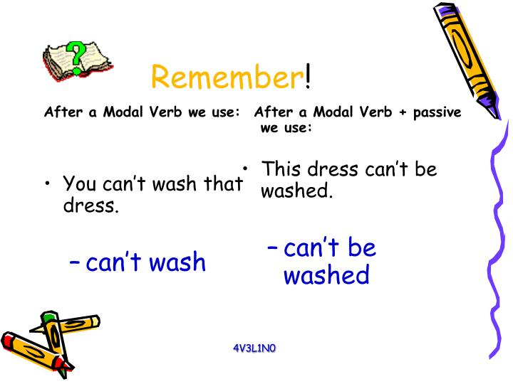 After a Modal Verb we use: