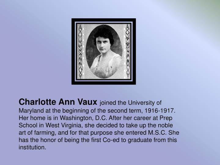 Charlotte Ann Vaux