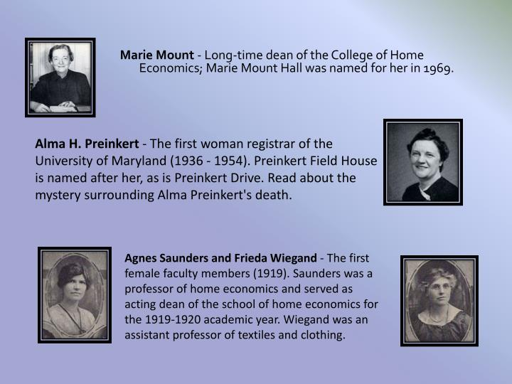 Marie Mount