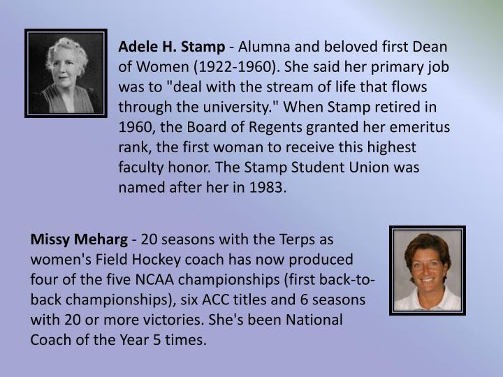 Adele H. Stamp