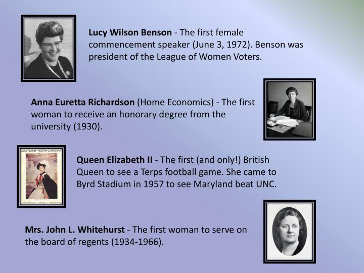 Lucy Wilson Benson