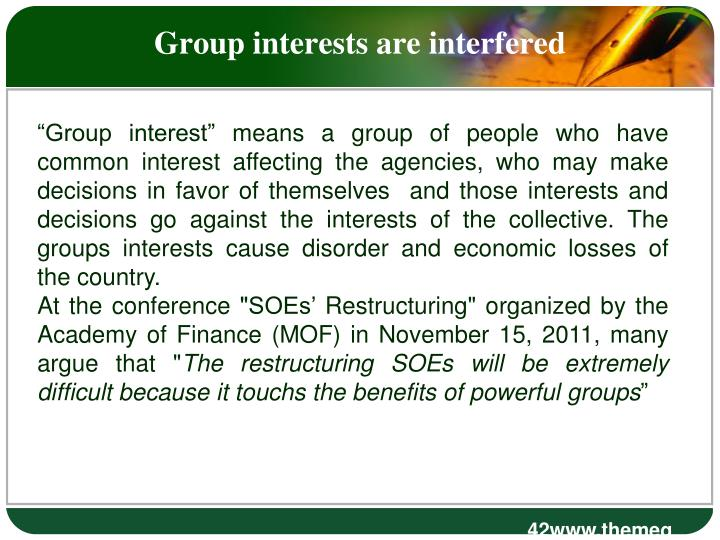 Group interests are interfered