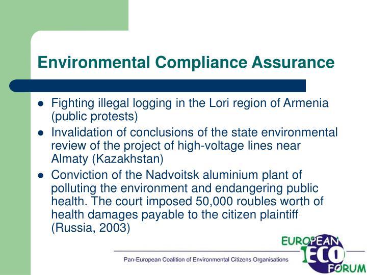 Environmental Compliance Assurance