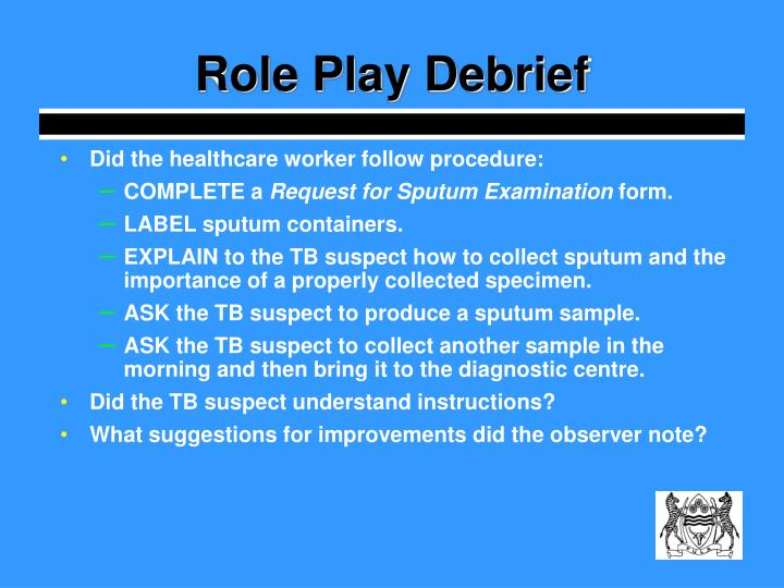 Role Play Debrief
