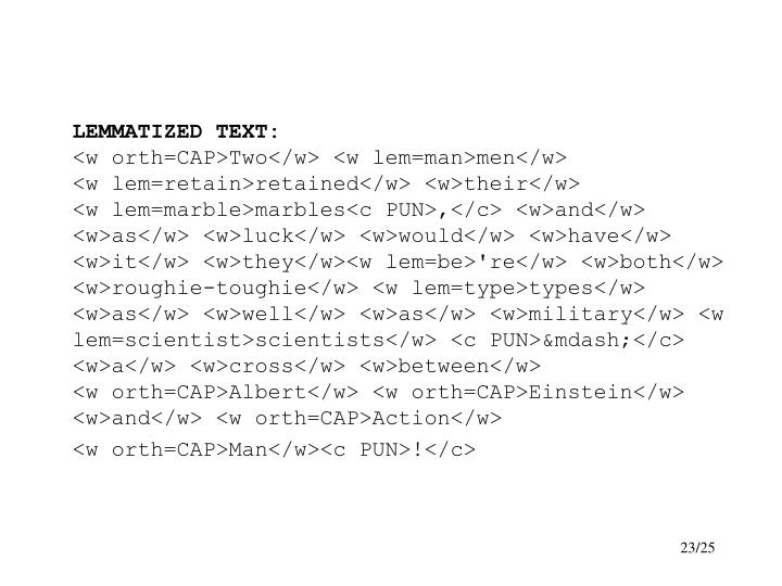 LEMMATIZED TEXT: