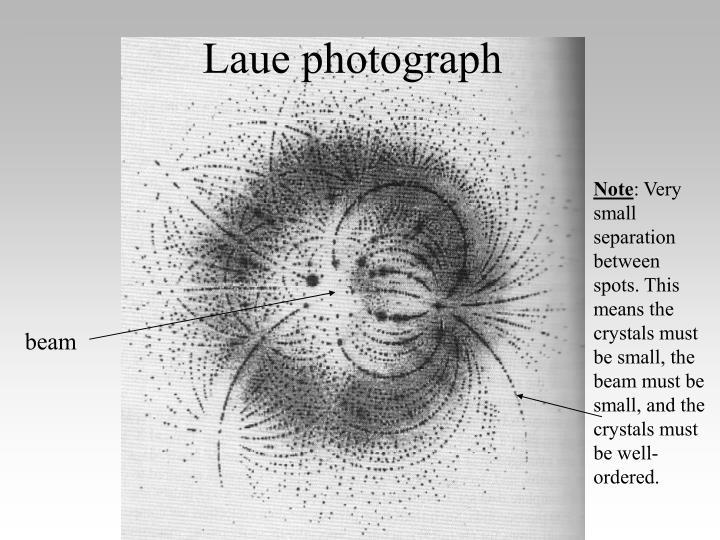 Laue photograph