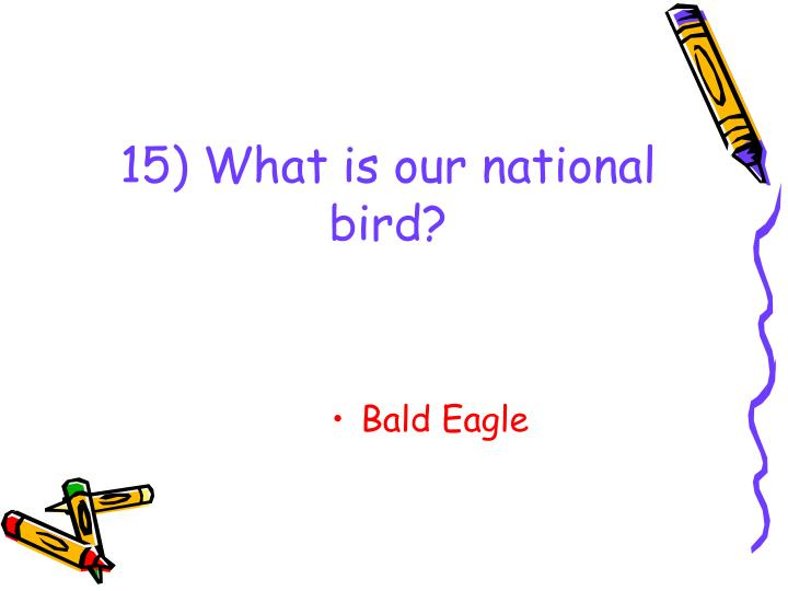 15) What is our national bird?