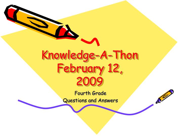 Knowledge a thon february 12 2009