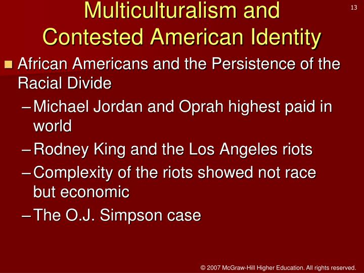 Multiculturalism and