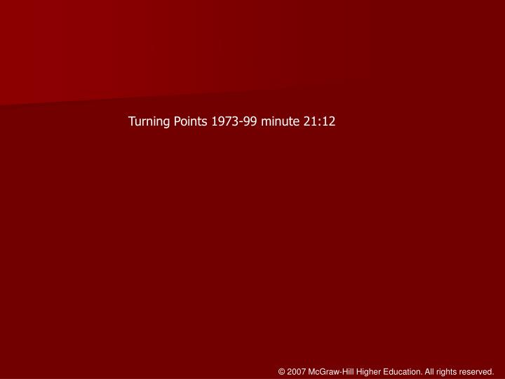 Turning Points 1973-99 minute 21:12