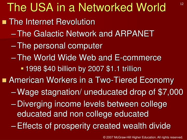 The USA in a Networked World