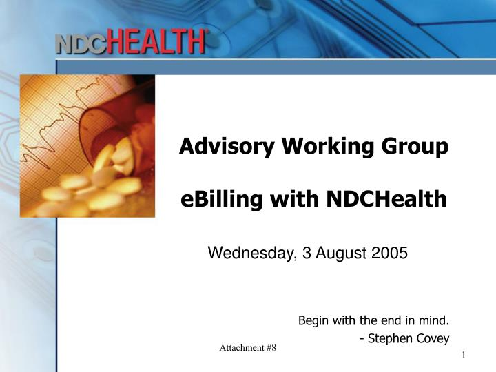 Advisory working group ebilling with ndchealth
