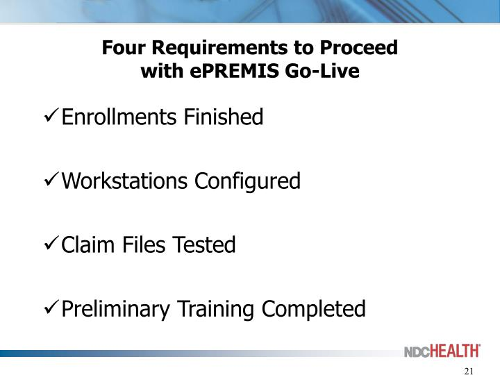 Four Requirements to Proceed