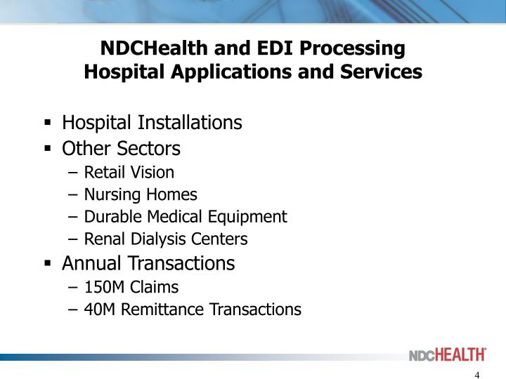 NDCHealth and EDI Processing