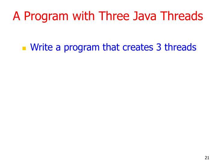A Program with Three Java Threads