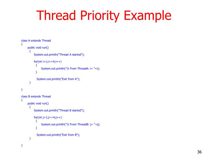 Thread Priority Example