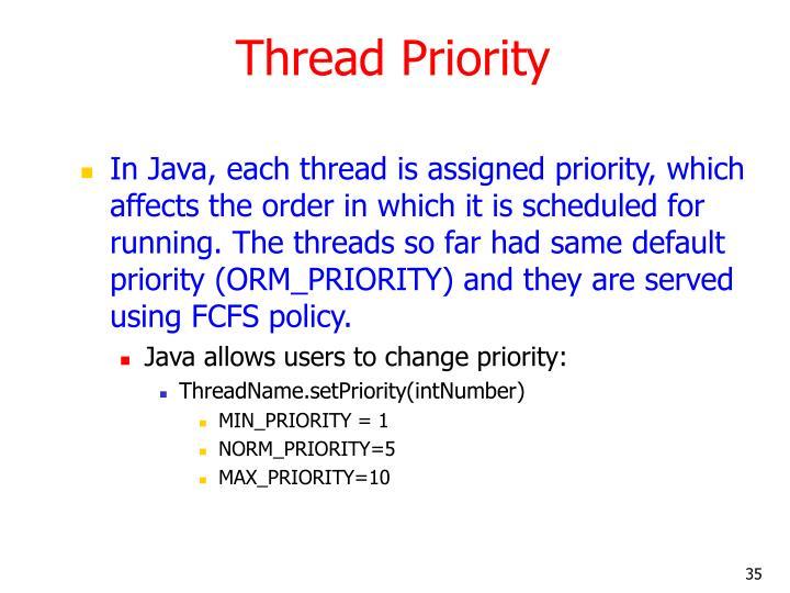 Thread Priority