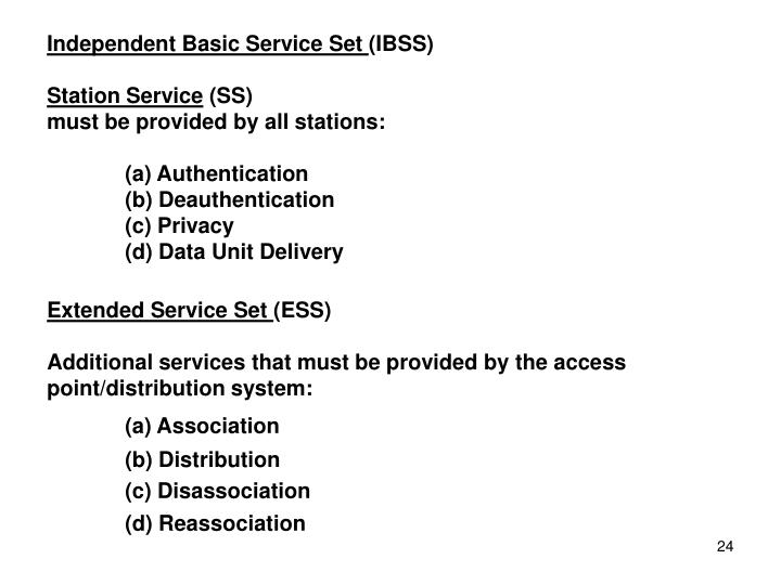 Independent Basic Service Set