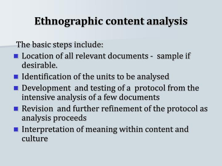 Ethnographic content analysis