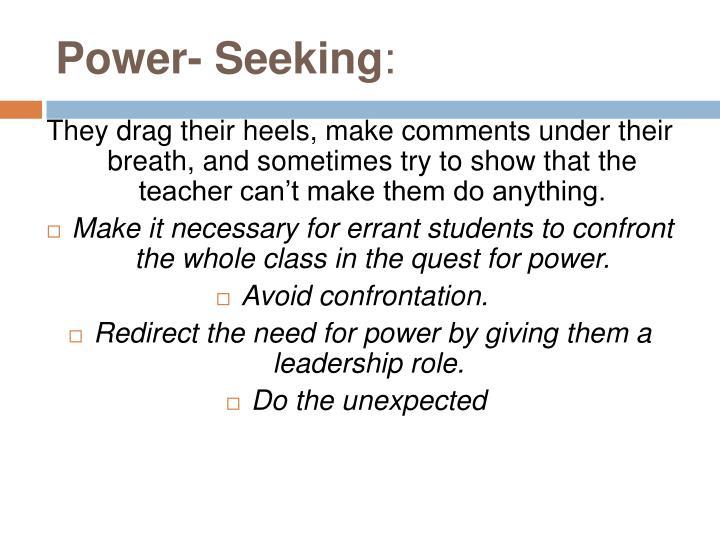 Power- Seeking
