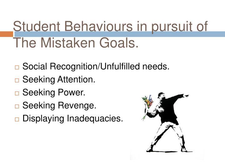 Student Behaviours in pursuit of