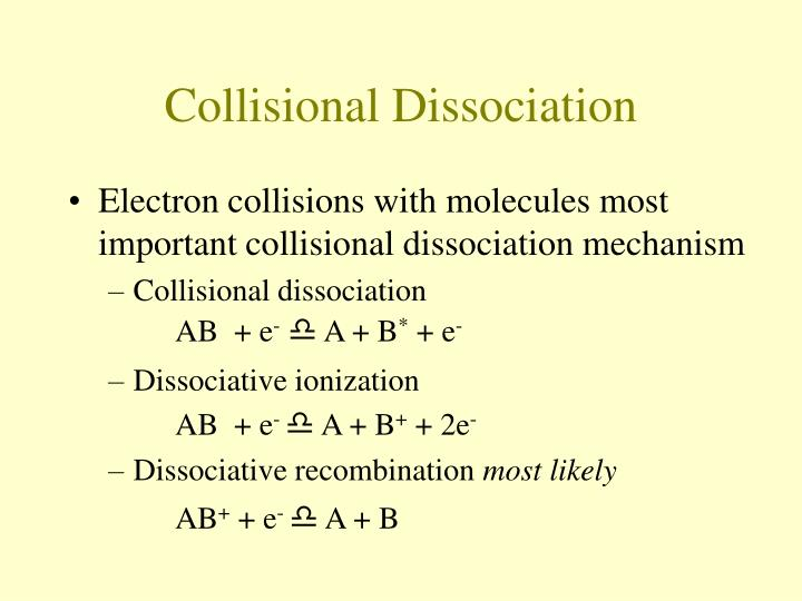 Collisional Dissociation