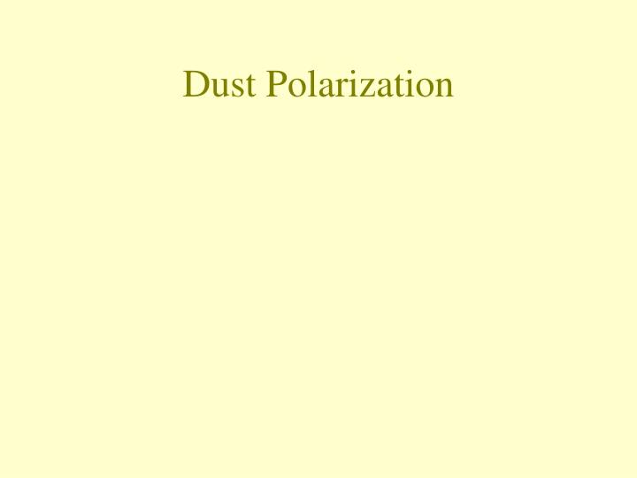 Dust Polarization