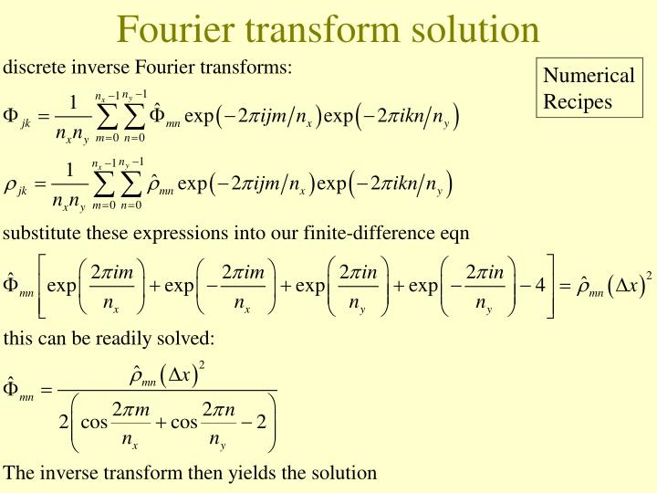 Fourier transform solution