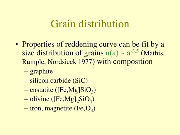 Grain distribution