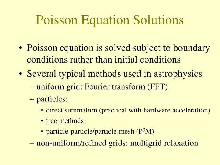 Poisson Equation Solutions