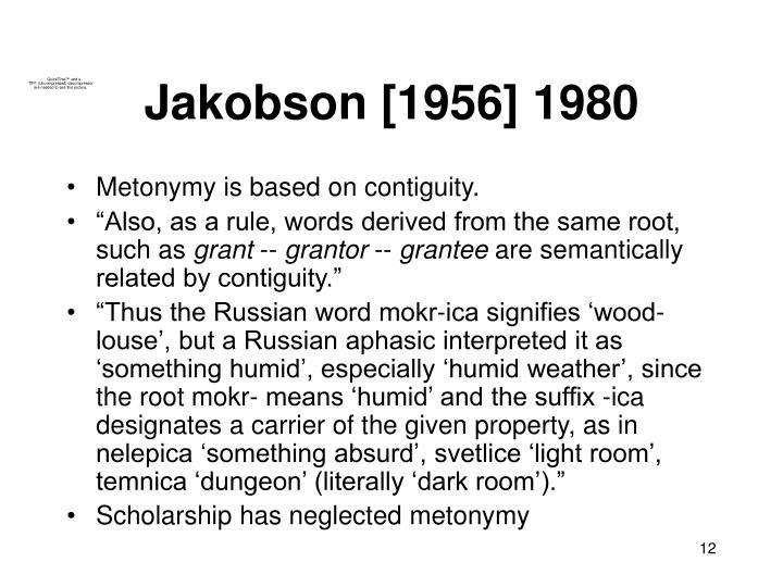 Jakobson [1956] 1980