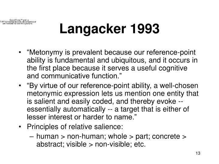 Langacker 1993