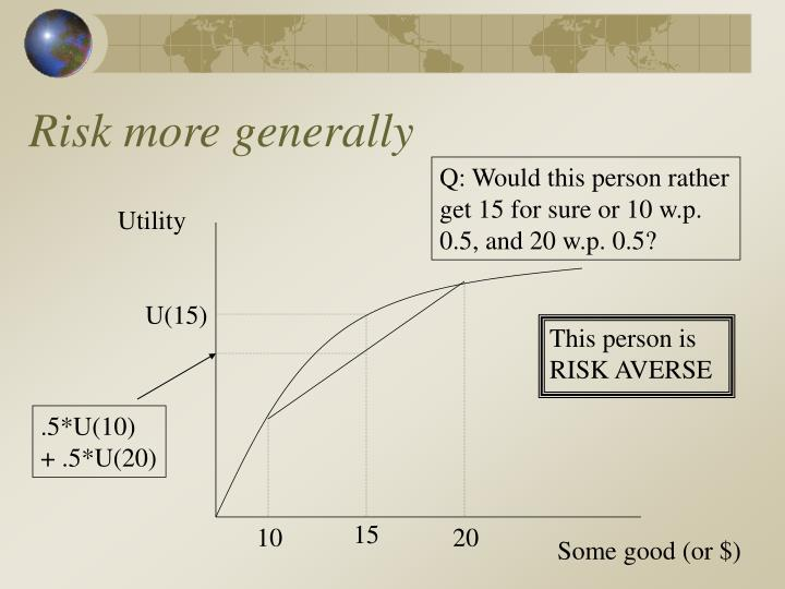 Risk more generally