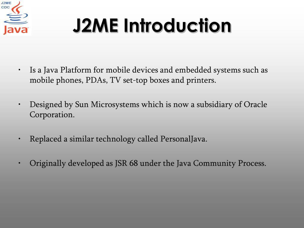 J2ME Introduction