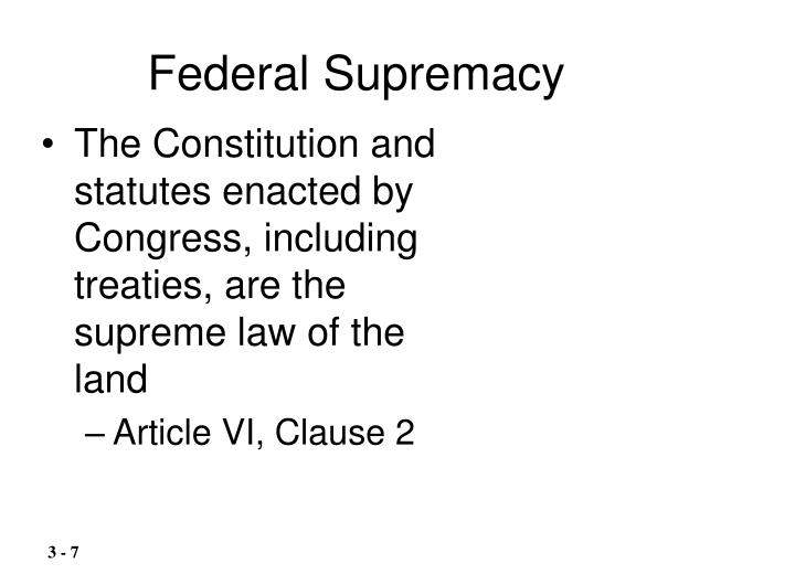 Federal Supremacy