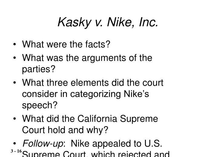 Kasky v. Nike, Inc.