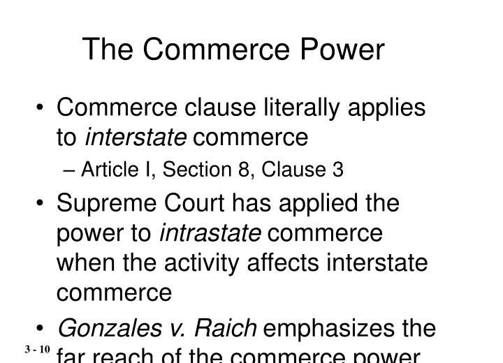 The Commerce Power
