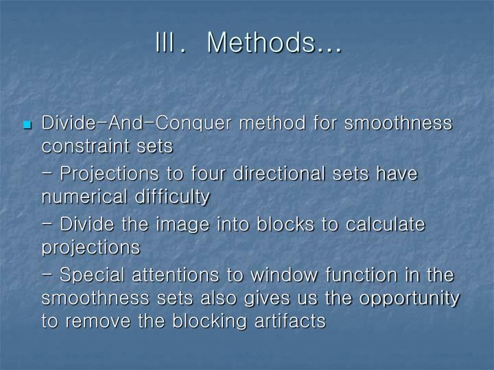 Ⅲ.  Methods
