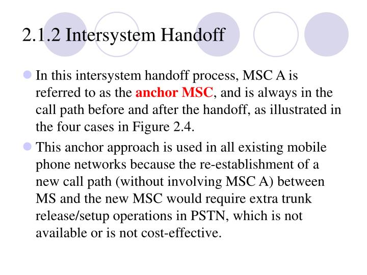 2.1.2 Intersystem Handoff
