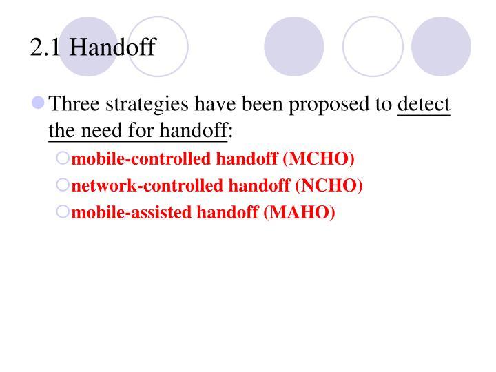 2.1 Handoff