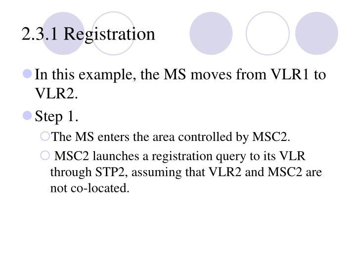 2.3.1 Registration