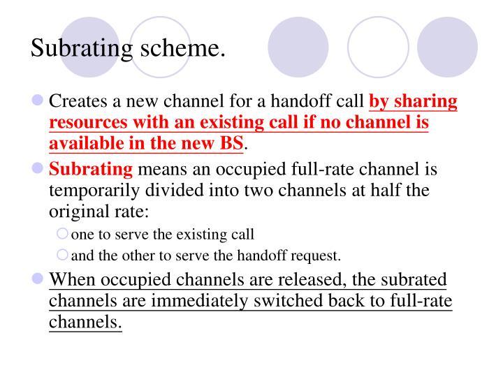 Subrating scheme.