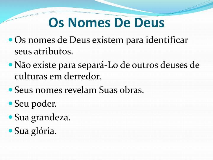 Os Nomes De Deus